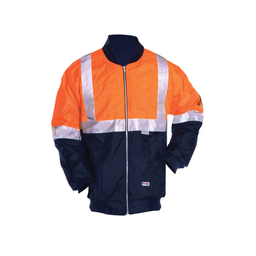 POLYESTER PU COATED FLYING JACKET (REFLECTIVE)