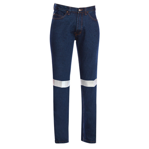 RIGGERS STRETCH DENIM JEANS WITH REFLECTIVE