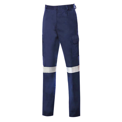 LADIES LIGHT WEIGHT COTTON TROUSERS (REFLECTIVE)