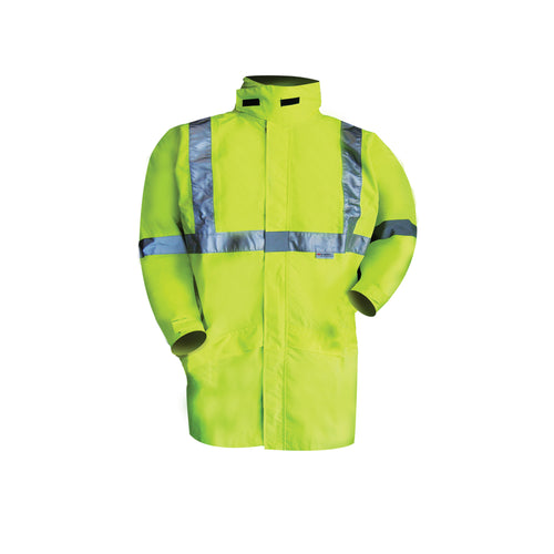 HIGH VIS RAIN STORM BREATHABLE JACKET (REFLECTIVE)