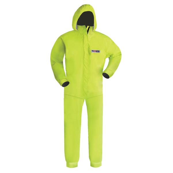 HIGH VIS RAIN CHEMICAL RESISTANT ANTI STATIC BREATHABLE OVERALL