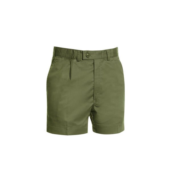 POLYVISCOSE SINGLE PLEAT SHORTS