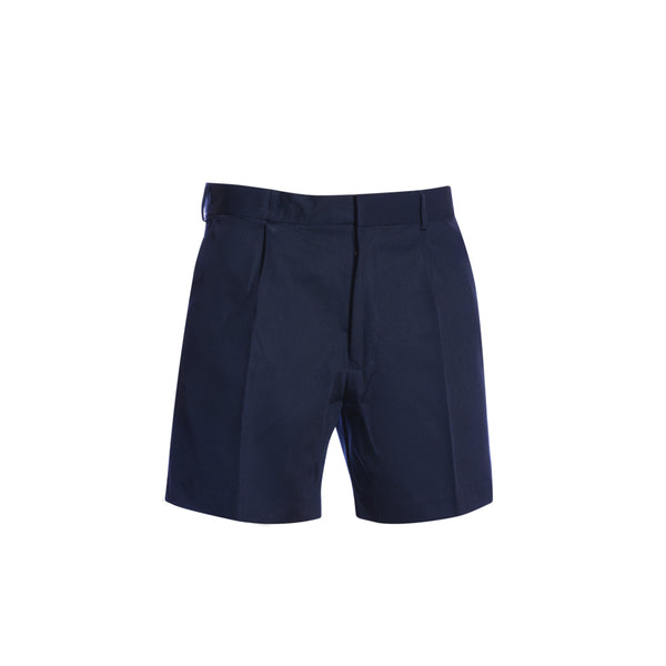 POLYVISCOSE DOUBLE PLEAT SHORTS