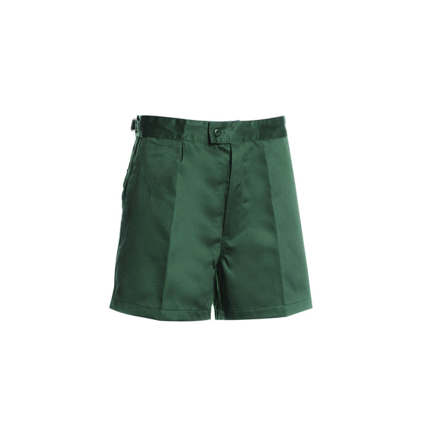 SIDE TABS COTTON SHORTS