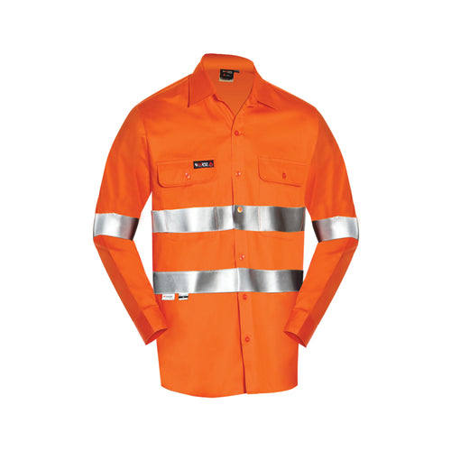INDURA ULTRASOFT HRC1 LONG SLEEVE LIGHT WEIGHT FIRE RETARDANT SHIRT (FR REFLECTIVE)