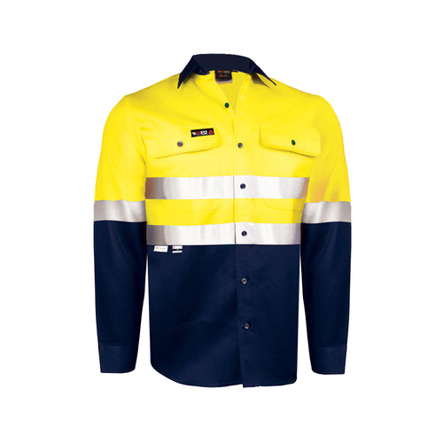 INDURA ULTRASOFT HRC1 L/SLEEVE LIGHT WEIGHT FIRE RETARDANT SHIRT (2 TONE FR REFLECTIVE)