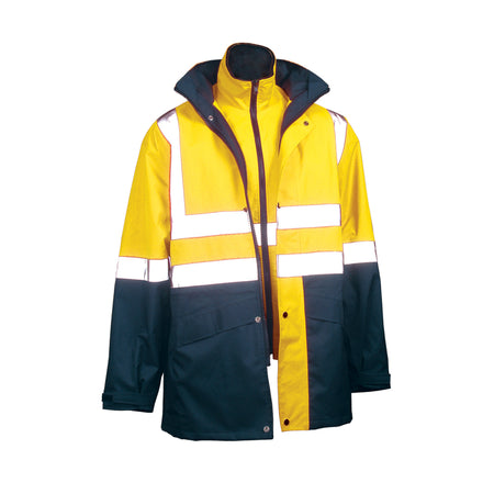 SAFETY JACKET WITH HOOP REFLECTIVE