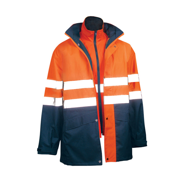 4 IN 1 SAFETY JACKET AND VEST (HOOP REFLECTIVE)
