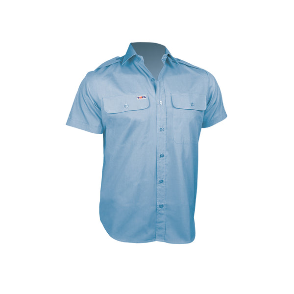 SHORT SLEEVE POLYCOTTON EPAULETTE SHIRT