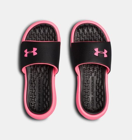 Under Armour Girls' UA Playmaker Fixed Strap Slides