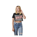 Santa Cruz Womens Boyfriend Checkerboard Cut Off Crop Tee