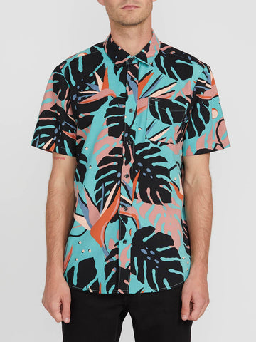 Volcom Mens Mentawais S/S Button-Up Shirt