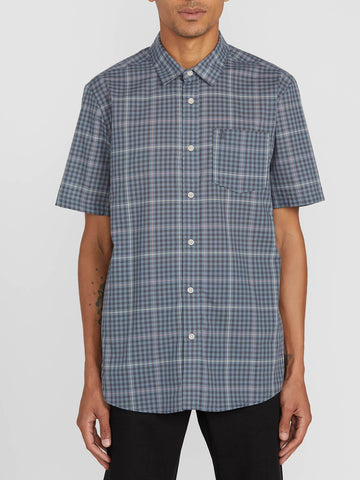 Volcom Mens Kelso Plaid S/S Button-Up Shirt