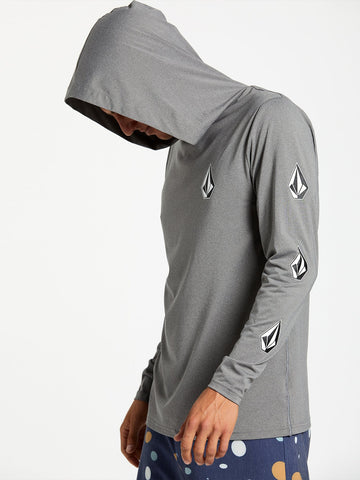 Volcom Mens Deadly Stones Hooded L/S UPF 50 Rashguard