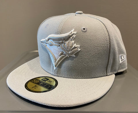 New Era Toronto Blue Jays Gray Basic 59FIFTY Fitted Hat