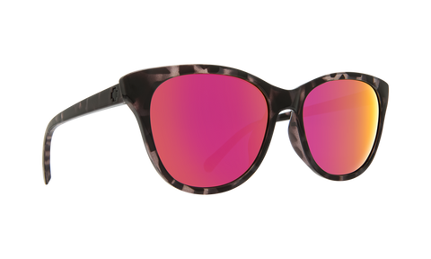 Spy Refresh Spritzer Sunglasses - Black Tort - Gray with Pink Spectra
