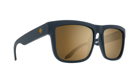 Spy Discord AF Sunglasses - Soft Matte Black - Happy Bronze with Gold Mirror
