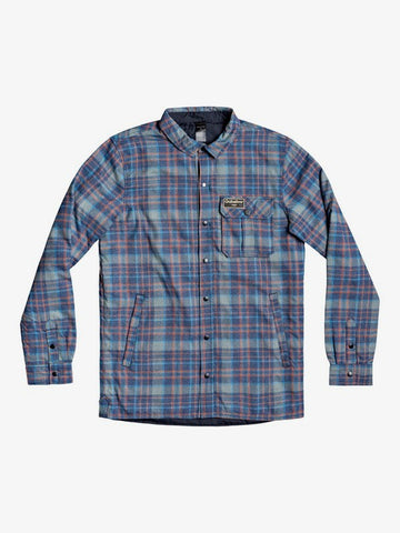 Quiksilver Mens Wildcard Reversible Water-Resistant Overshirt Insulated Jacket