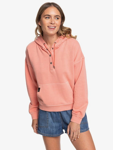 Roxy W Girls' Who Slide Half-Snap Hoodie