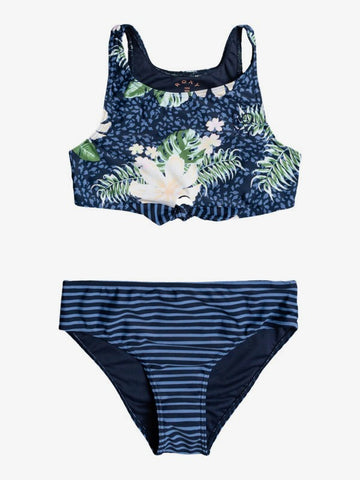 Roxy Girls Heaven Wave Crop Top Bikini Set