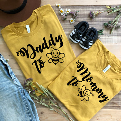 Mommy to Bee Daddy to Bee Shirts