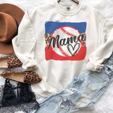 Baseball Mama Heart Sweatshirt