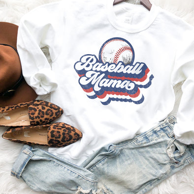 Retro Baseball Mama Sweatshirt