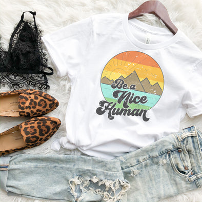 Retro Be A Nice Human Shirt
