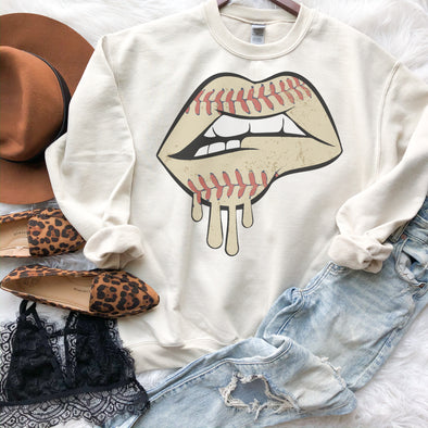 Dripping Baseball Lips Sweatshirt