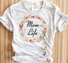 Mom Life Floral Wreath