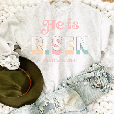 Retro He Is Risen Sweatshirt