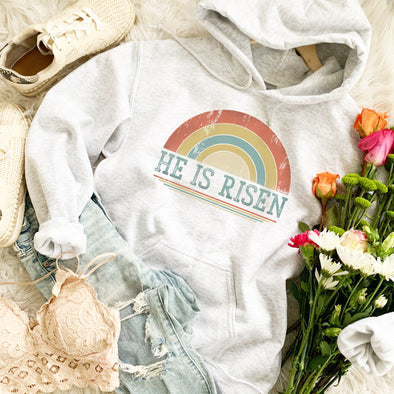Retro Rainbow He Is Risen Sweatshirt