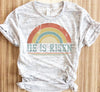 Retro Rainbow He Is Risen Shirt