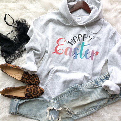 Hoppy Easter Sweatshirt Womens