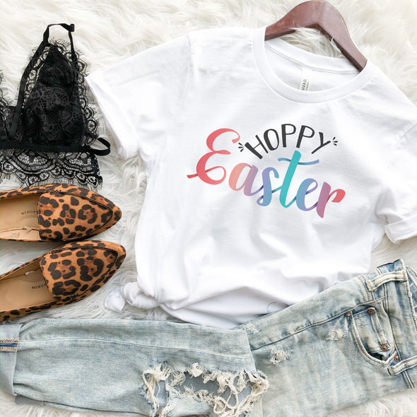 Hoppy Easter Shirt Womens