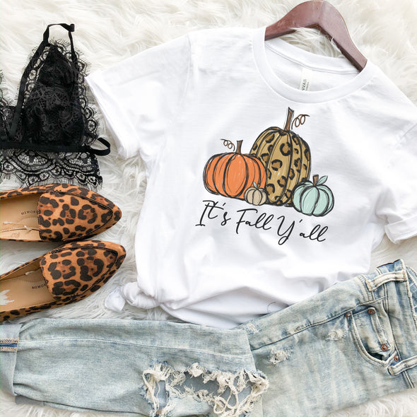 It's Fall Y'all Pumpkin T Shirt