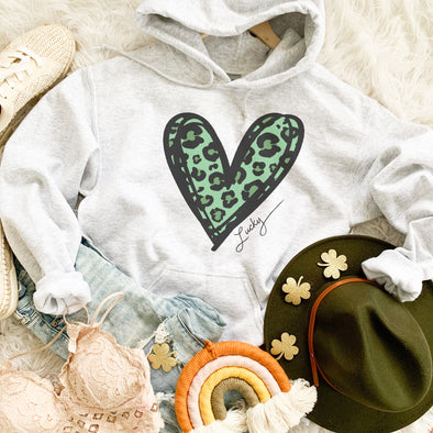 Saint Patrick's Day Leopard Heart Sweatshirt