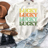 Orange Retro Lucky Sweatshirt