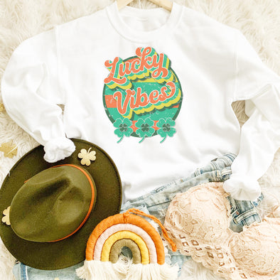 Retro Lucky Vibes Sweatshirt