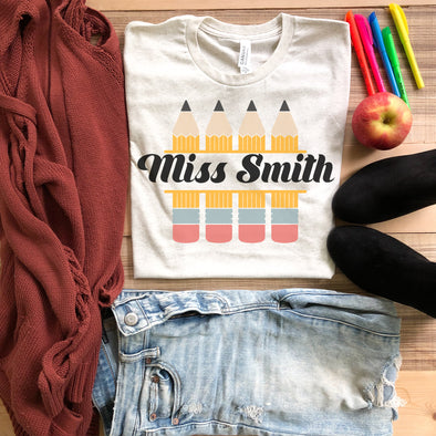Custom Pencil Teacher Shirt