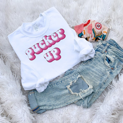 Pucker Up Valentines Day Sweatshirt
