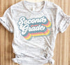 Retro Second Grade Teacher Shirt