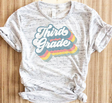 Retro Third Grade Teacher Shirt