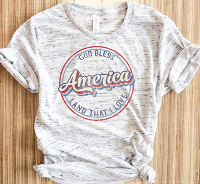 Retro God Bless America The Land That I Love Shirt