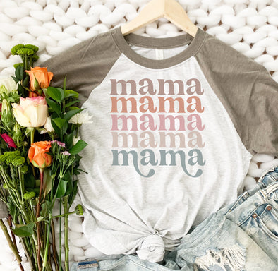 Retro Mama In A Row Shirt