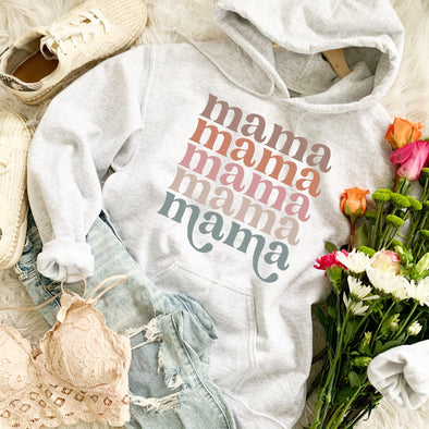 Retro Mama In A Row Sweatshirt
