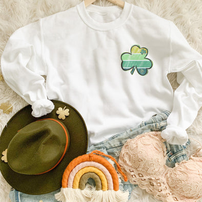 Striped Shamrock Saint Patrick's Sweatshirt