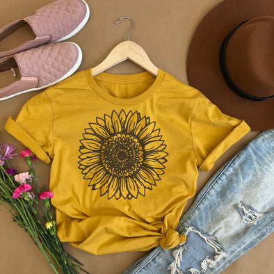 Sunflower Drawing Shirt