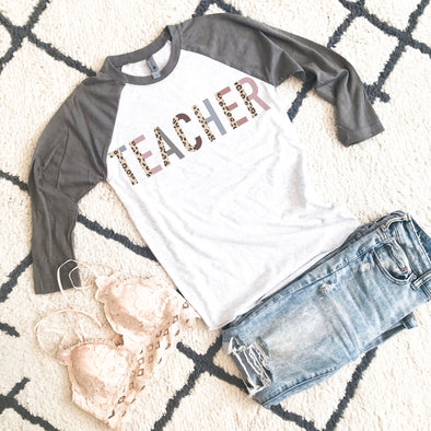 Teacher Leopard Shirt