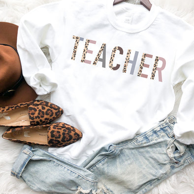 Teacher Leopard Sweatshirt